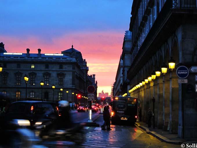 Paris by night, rue Rivoli October 2010