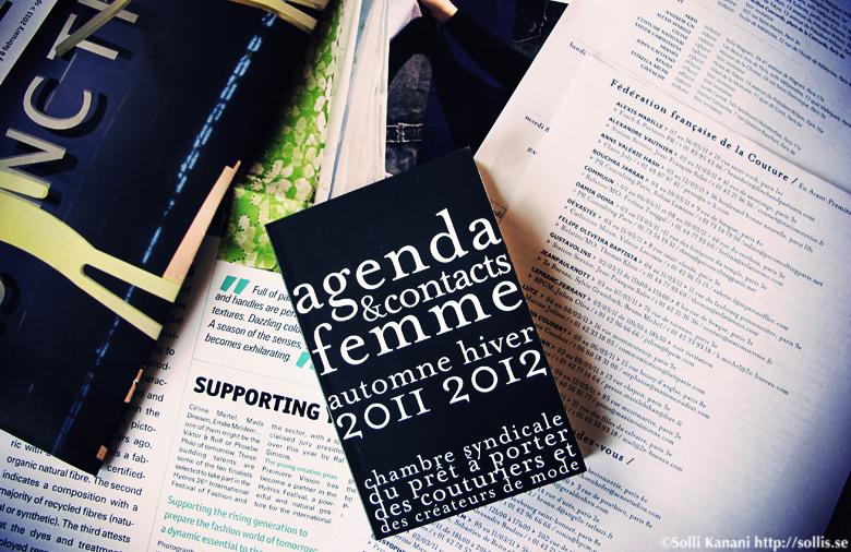 fashion week agenda