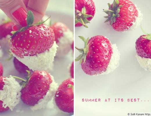 strawberries with white chocolate