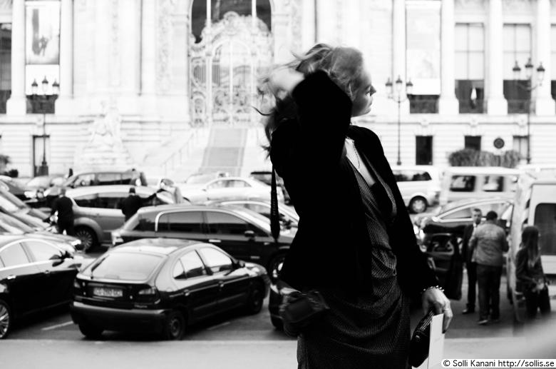 Outside Vanessa Bruno's fashionshow at Grand Palais
