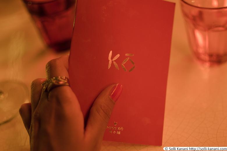 Miss Kô Restaurant Paris
