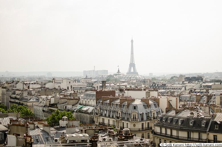 Printemps rooftop view over Paris