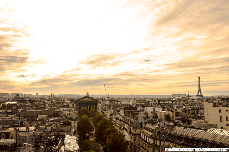 Paris rooftopsview