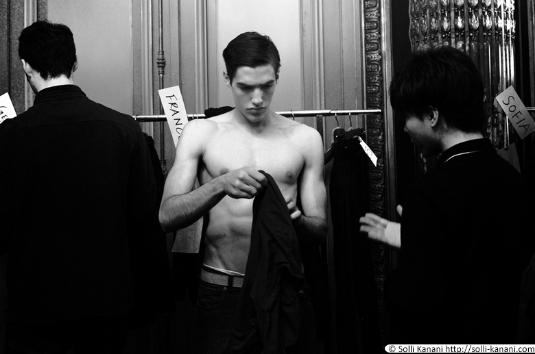 Rynshu AW14 backstage