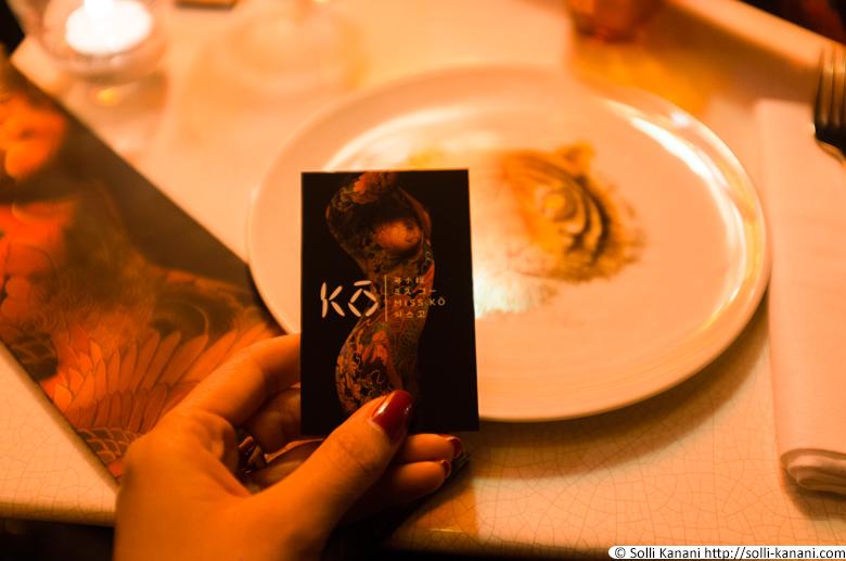 Dinner at Miss Ko in Paris