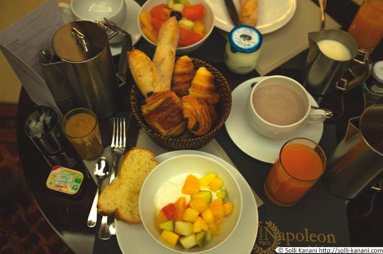 Breakfast at Hôtel Napoléon in Paris