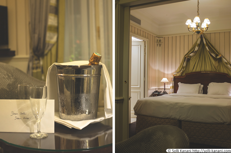 Champagne at Hôtel Napoléon in Paris