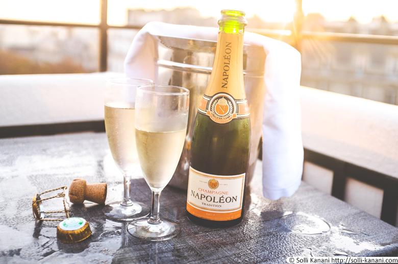 Champagne at Hôtel Napoléon Paris