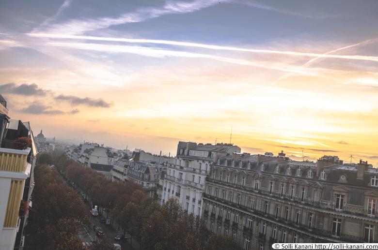 Sunrise view from Hôtel Napoléon in Paris