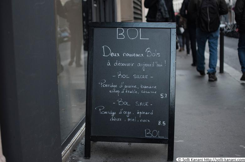 BOL Porridge Bar in Paris