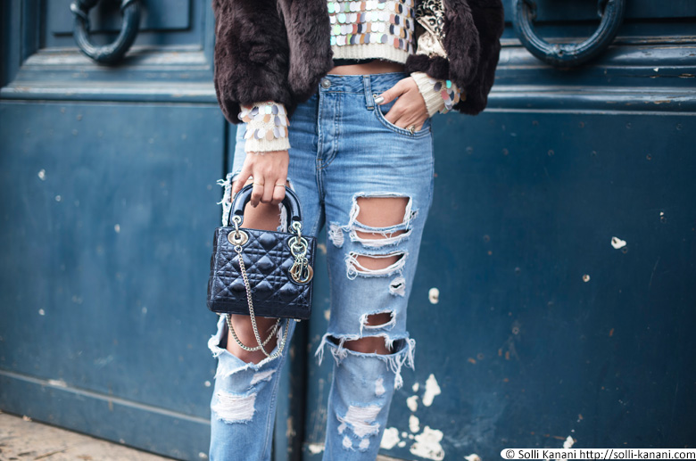 Streetstyle trashy jeans