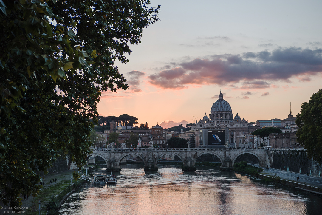 3 days in Rome  - Ponte Sant'Angelo sunset