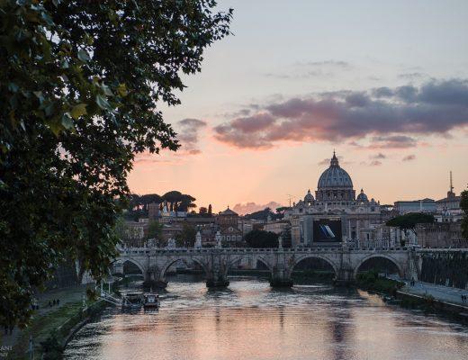 Ponte Sant'Angelo sunset