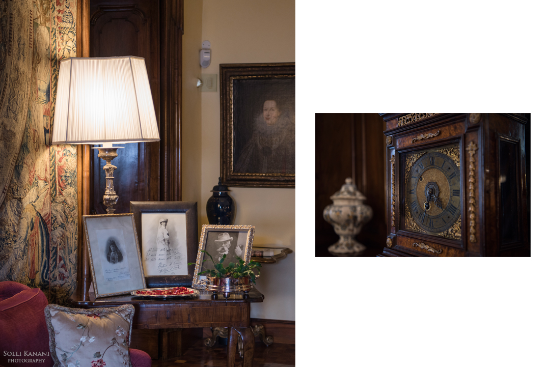 Villa Spalletti Trivelli - original family photos, paintings, antiques and artwork