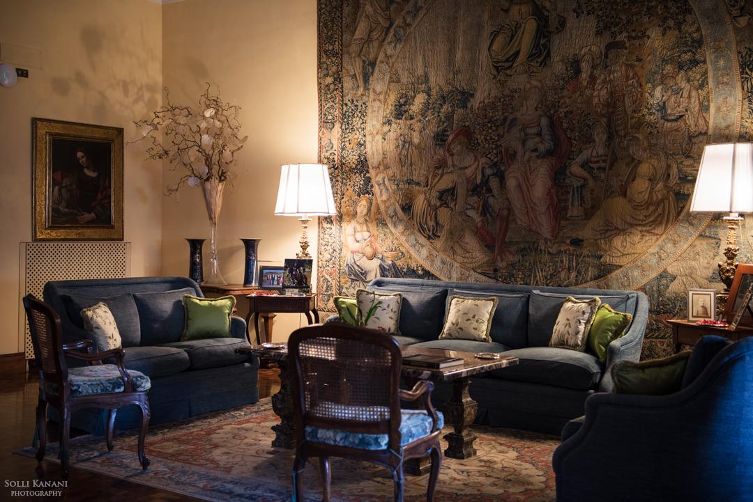 Sala degli Arazzi at Villa Spalletti Trivelli - an elegant boutique hotel in Rome
