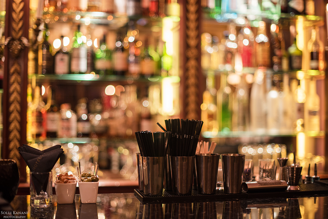 The bar at L'Hotel in Paris