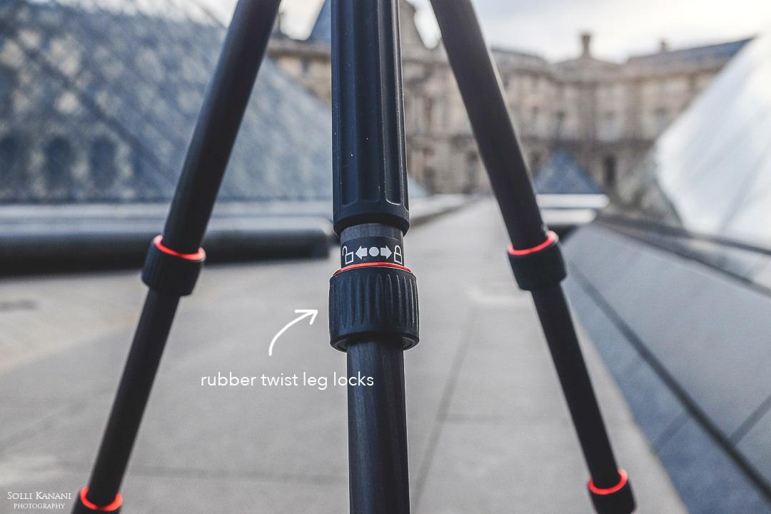 rubber twist leg locks