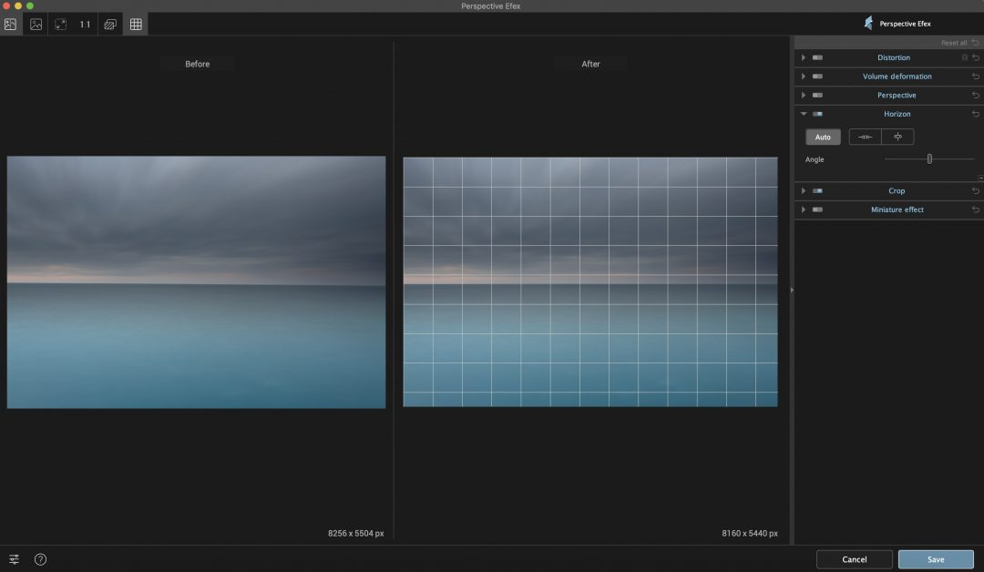 Perspective Efex Horizon