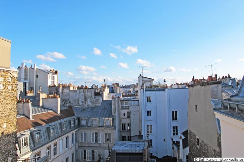 View from my window in my apartment at Boulevard Saint Germain, Paris